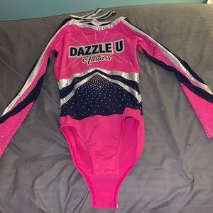 Dazzle U allstars cheer uniform